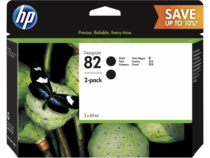 HP 82 DesignJet Black Ink Cartridge 2-pack