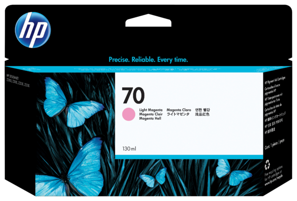 HP 70 130-ml Light Magenta Ink Cartridge