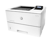 HP LaserJet Pro M501dn, left view, no output