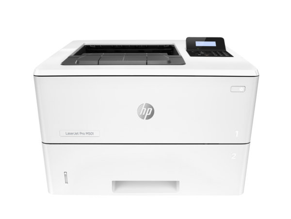 HP LaserJet Pro M501dn, center view, no output