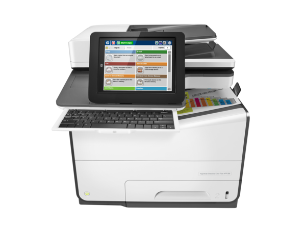 HP PageWide Enterprise Color Flow MFP 586z, PageWide Technology, automatic duplexing, center view, k