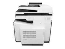 HP PageWide Enterprise Color Flow MFP 586z, PageWide Technology, automatic duplexing, rear view