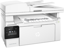HP LaserJet Pro MFP M130fw, Right facing, with output