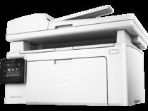 HP LaserJet Pro MFP M130fw, Hero, Left facing, no output