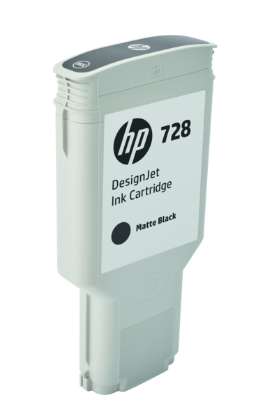 HP 728 300-ml Matte Black DesignJet Ink Cartridge