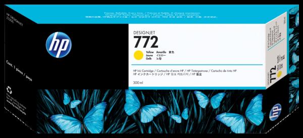 HP 772 300-ml Yellow Designjet Ink Cartridge