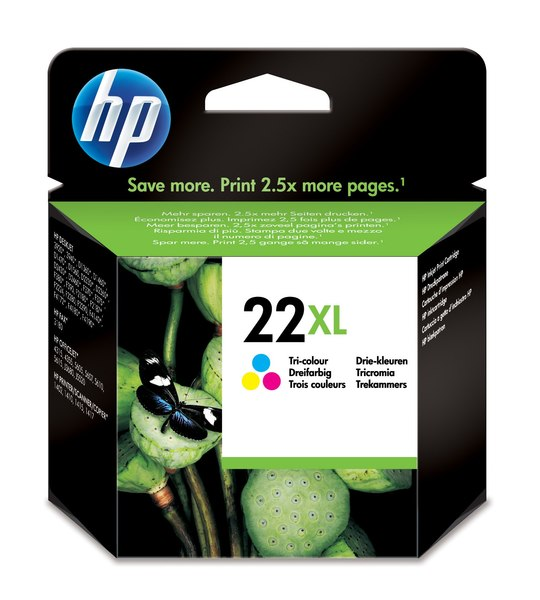 HP 22XL Tri-color Inkjet Print Cartridge