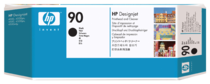 HP 90 Black Printhead and Printhead Cleaner