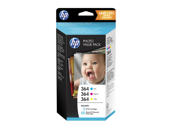 HP 364 Photo Value Pack FSC Glossy 4x6 50 Sheets