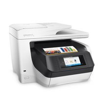 HP OfficeJet Pro 8720 All-in-One (White), Right facing, with output
