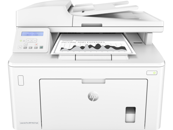 HP LaserJet Pro MFP M227sdn, Center, Front with output