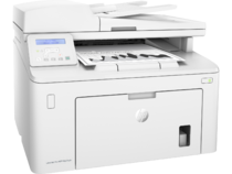 HP LaserJet Pro MFP M227sdn, Right facing, with output