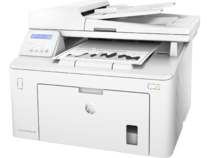 HP LaserJet Pro MFP M227sdn, Left facing, with output