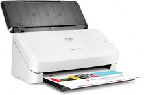 HP ScanJet Pro 2000 s1 sheet-feed Scanner, Right facing, with output