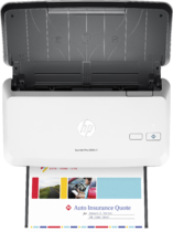 HP ScanJet Pro 2000 s1 sheet-feed Scanner, Aerial/Top, with output