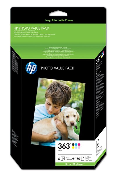 HP 363 Series Photo Pack-150 sht/10 x 15 cm