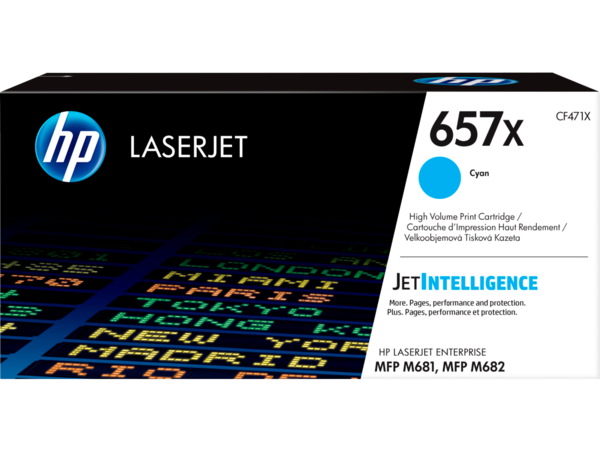HP LaserJet Enterprise 657x Cyan Print Cartridge - EMEA