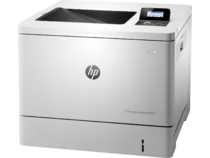 HP Color LaserJet Enterprise M553dn, color printer, left facing, no paper