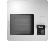 HP Color LaserJet Enterprise M553dn, color printer, aerial view, no paper