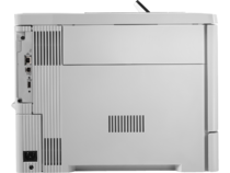 HP Color LaserJet Enterprise M553dn, color printer, side profile interface