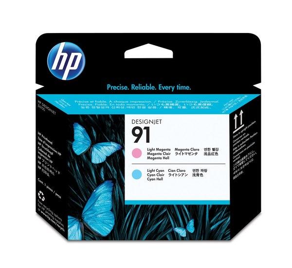 HP 91 Light Magenta and Light Cyan Printhead