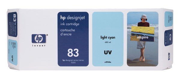 HP 83 680-ml Light Cyan UV Ink Cartridge