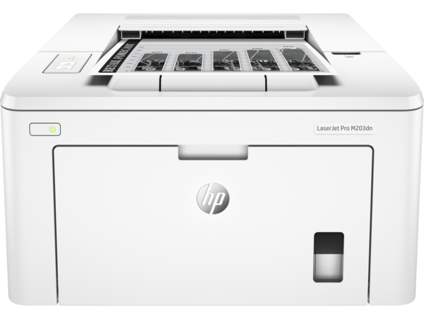 HP LasesrJet Pro M203dn, Center, Front, with output