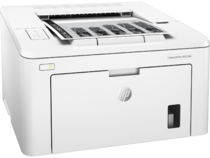 HP LasesrJet Pro M203dn, Right facing, with output