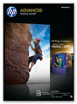 HP Advanced Glossy Photo Paper-25 sht/210 x 297 mm