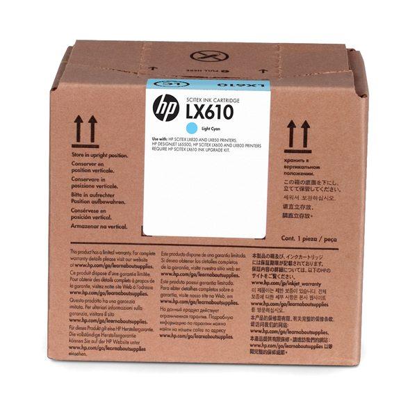 HP LX610 3-liter Light Cyan Latex Ink Cartridge