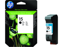 HP 15 Black Ink Cartridge, EMEA, front