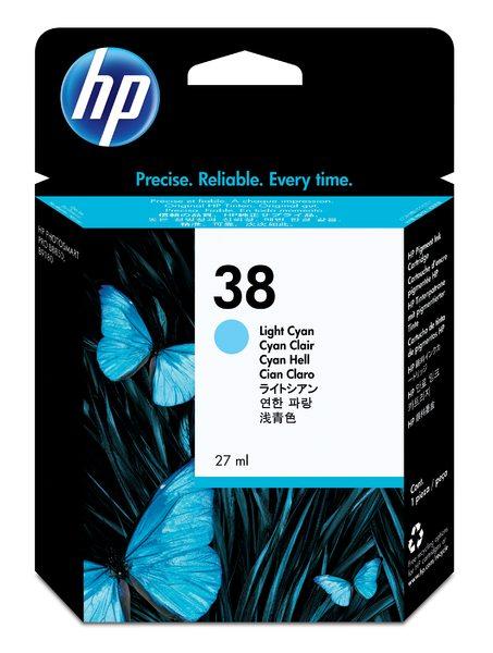 HP 38 Ink Cartridge Light Cyan