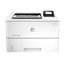 HP LaserJet Enterprise M506, Center, Front, with output