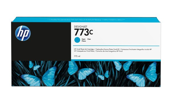 HP 773C 775-ml Cyan Designjet Ink Cartridge