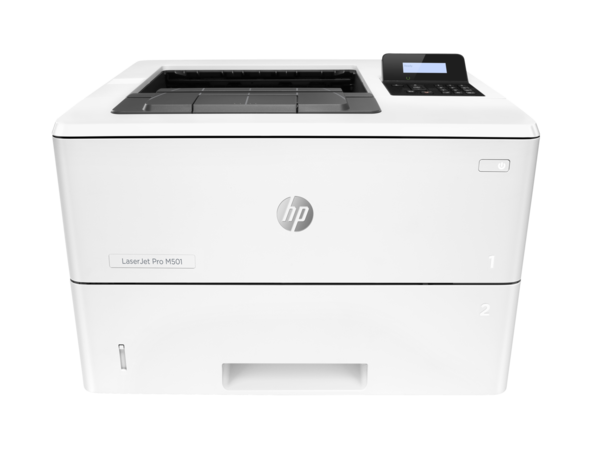 HP LaserJet Pro M501n, center view, no output
