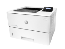 HP LaserJet Pro M501n, left view, no output