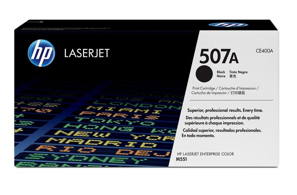 HP 507A Black LaserJet Toner Cartridge