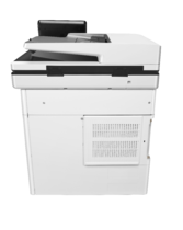 HP Color LaserJet Enterprise MFP M577dn, rear view