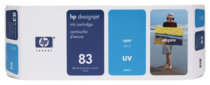 HP 83 680-ml Cyan UV Ink Cartridge