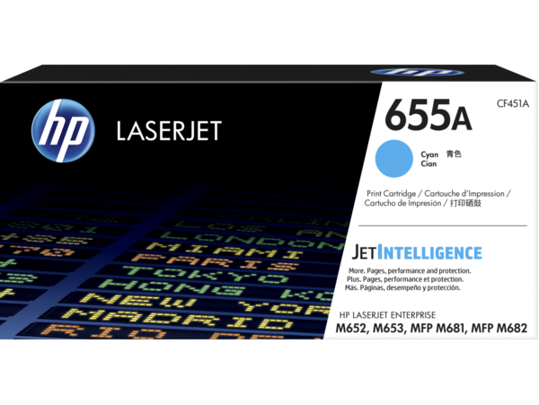 HP LaserJet Enterprise 655A Cyan Print Cartridge
