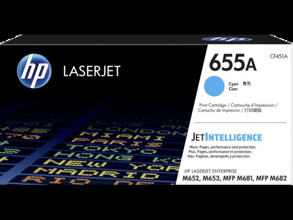 HP LaserJet Enterprise 655A Cyan Print Cartridge