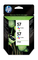 HP 57 2-pack Tri-color Inkjet Print Cartridge