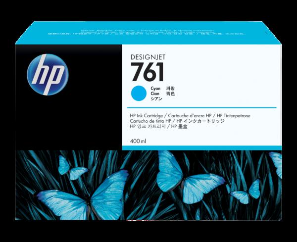 HP 761 400-ml Cyan Designjet Ink Cartridge