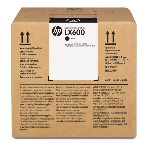 HP LX600 3-liter Black Latex Scitex Ink Cartridge
