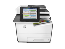 HP PageWide Enterprise Color MFP 586dn printer, PageWide Technology, automatic duplexing, center vie