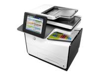 HP PageWide Enterprise Color MFP 586dn printer, PageWide Technology, automatic duplexing, hero high