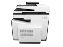 HP PageWide Enterprise Color MFP 586dn printer, PageWide Technology, automatic duplexing, rear view