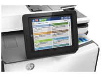 HP PageWide Enterprise Color MFP 586dn printer, PageWide Technology, automatic duplexing, detail con