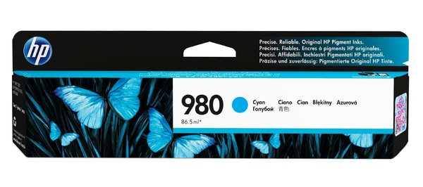 HP 980 Cyan Original Ink Cartridge