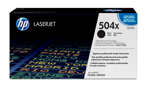 HP 504X Black LaserJet Toner Cartridge